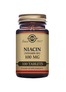Solgar NIACIN (VITAMIN B3) 100mg 100 tablets