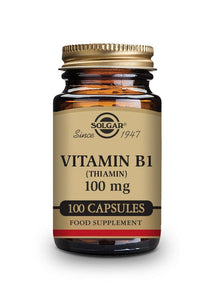 Solgar VITAMIN B1 (THIAMIN) 100 mg 100 vegetable capsules