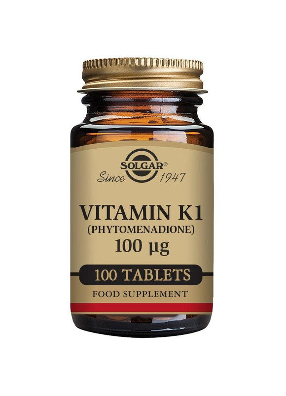 Solgar VITAMIN K 100 mcg 100 tablets