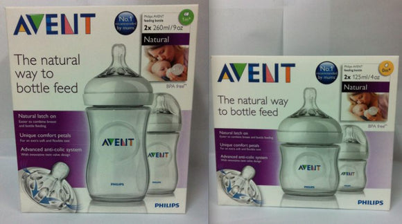 Philips Avent Natural Bottles 4 * 260ml 4 * 125ml