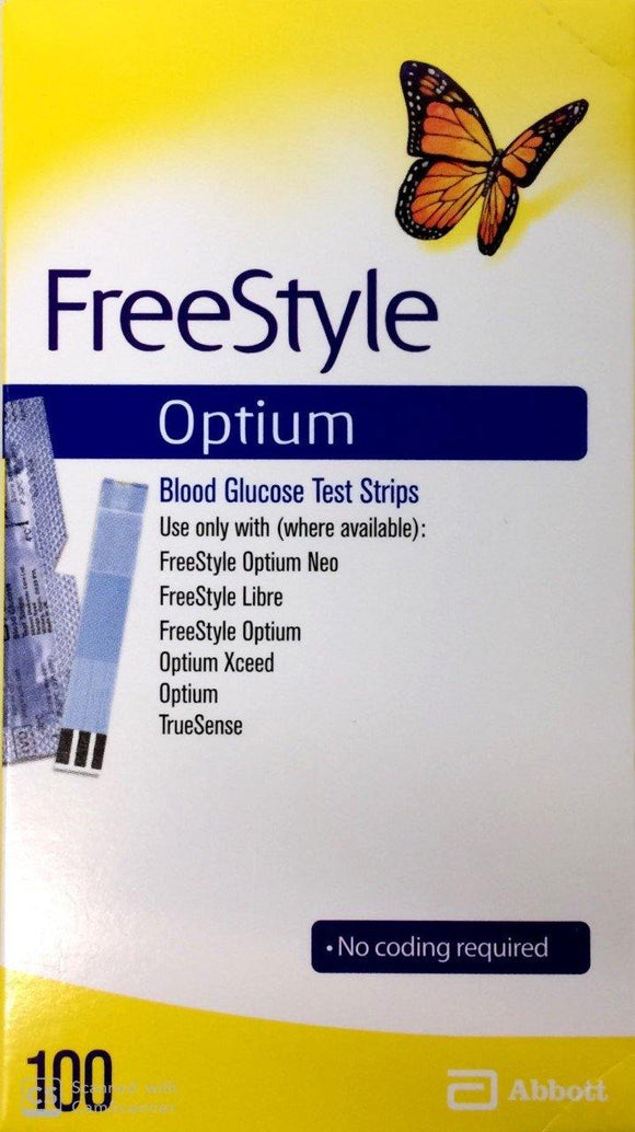 ABBOTT FreeStyle Optium Glucose Test Strips - DominionRoadPharmacy