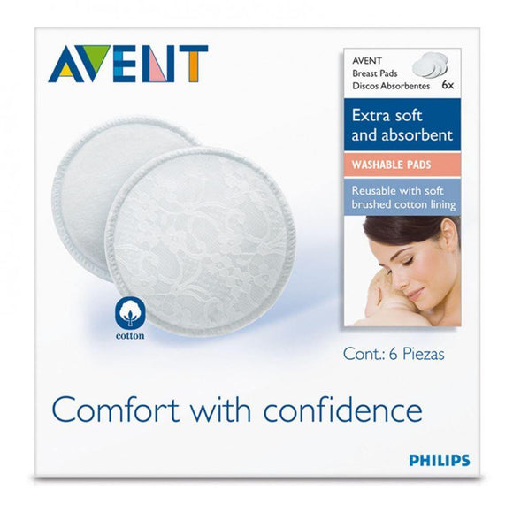 Avent Washable 6 Breast Pads - DominionRoadPharmacy