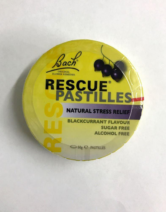 Bach Rescue Remedy Pastilles Blackcurrant 50g - DominionRoadPharmacy
