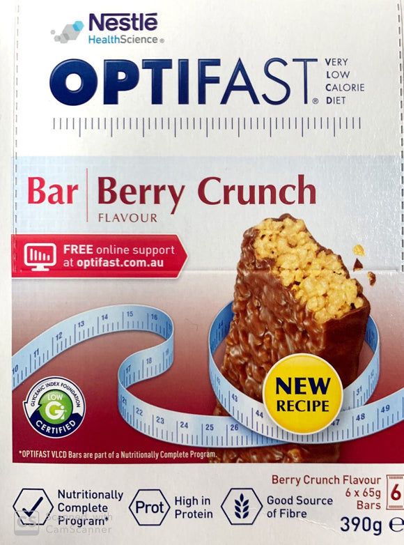 Optifast VLCD Berry Crunch 65 gm x 6 Bars