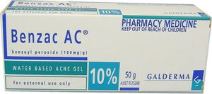 Benzac AC Acne Gel 10% 50g Pharmacy Medicine - DominionRoadPharmacy