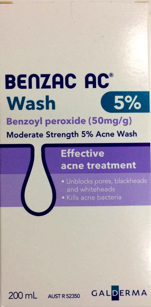 Benzac AC Acne Wash 5% 200ml - DominionRoadPharmacy