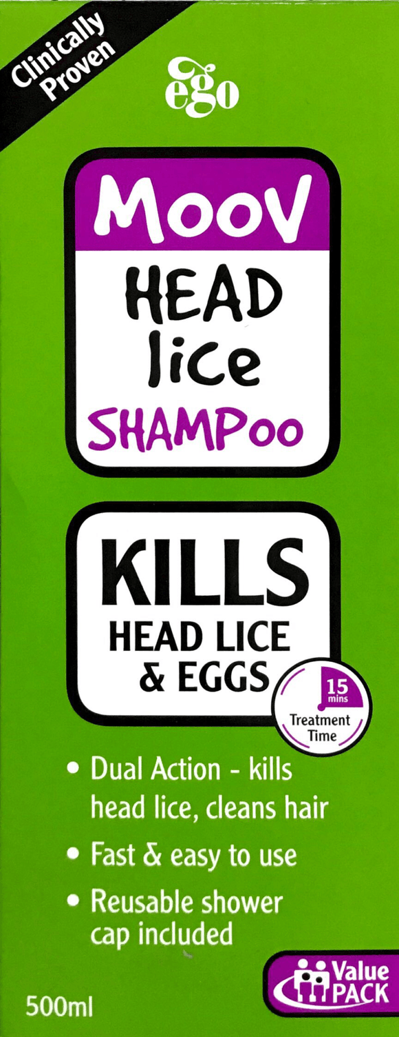 Ego Moov Head lice Shampoo - 500 ml - DominionRoadPharmacy