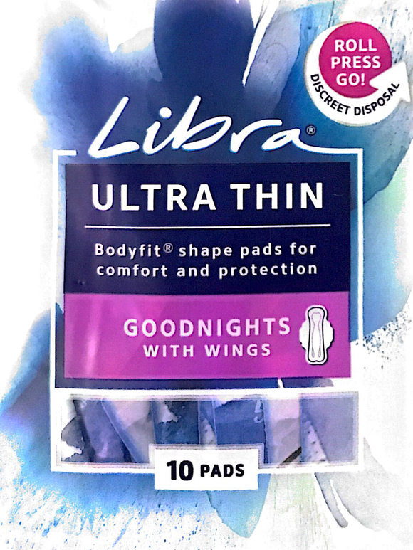 Libra ultra thin Goodnights with wings - Pads 10