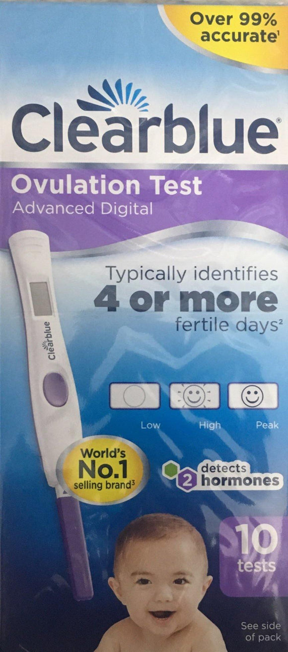 Clearblue Advanced Digital Ovulation Test 10 Tests - DominionRoadPharmacy