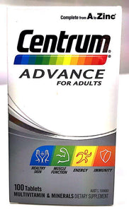 Centrum Advance Multivitamin 100 tablets - DominionRoadPharmacy