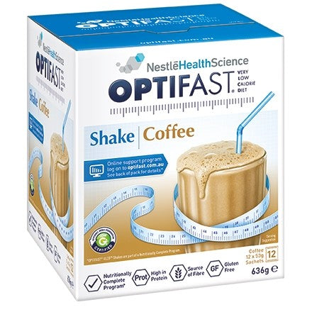 Optifast VLCD Milkshake Coffee 12 x 53 gm Sachets
