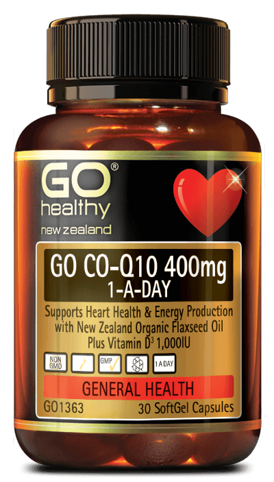 Go Healthy Go Co-Q10 400mg 1-A-Day 30 capsules - DominionRoadPharmacy