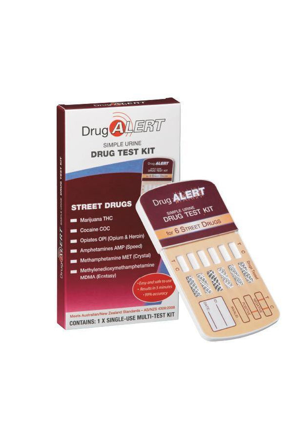 Drug Alert Drug Test Kit for 6 street Drugs - DominionRoadPharmacy