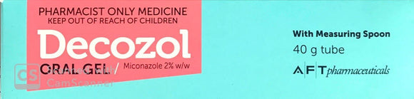 Decozol Oral Gel For Treatment Of Candidiasis 40g - Pharmacist Only Medicine