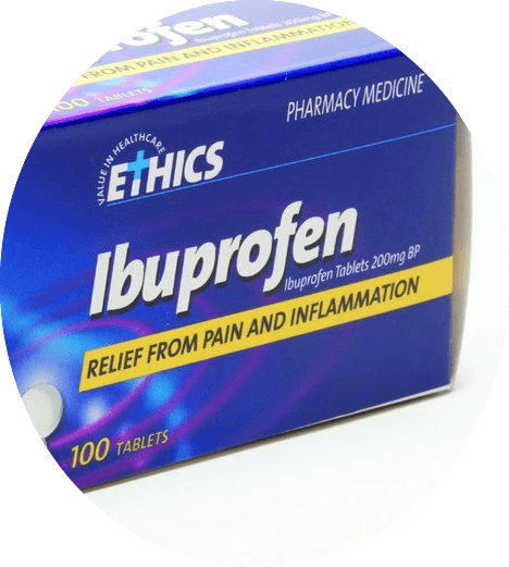 Ethics Ibuprofen 200mg - 100 tablets-Pharmacy Medicine Quantity Restriction (1)Applies - DominionRoadPharmacy