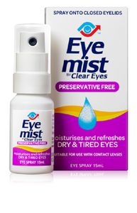Clear Eyes Eye Mist Spray 15ml - DominionRoadPharmacy