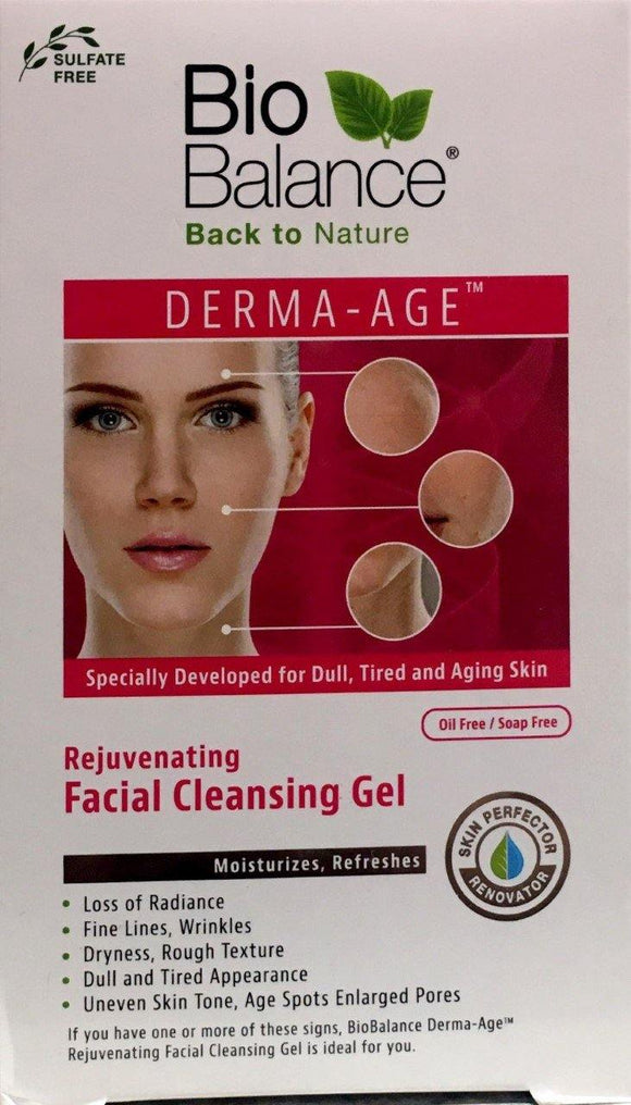 BioBalance Derma-Age Rejuvenating Facial Cleansing Gel-250ml - DominionRoadPharmacy