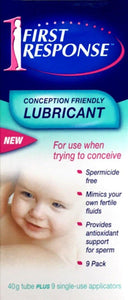 First Response Conception Friendly Lubricant 40g Tube + 9 Single Use Applicators - DominionRoadPharmacy