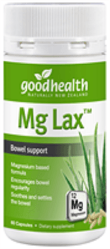 Good Health Mg Lax Bowel Support Capsules 60's - DominionRoadPharmacy