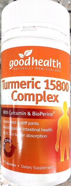 Good Health Turmeric 15800 Complex 60 capsules - DominionRoadPharmacy