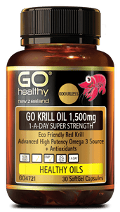 GO KRILL OIL 1,500MG 1-A-DAY SUPER STRENGTH 30 Caps - DominionRoadPharmacy
