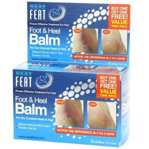 NEAT FOOT AND HEEL BALM 75g Twin Pack For Dry Cracked Feet & Cracked Heels
