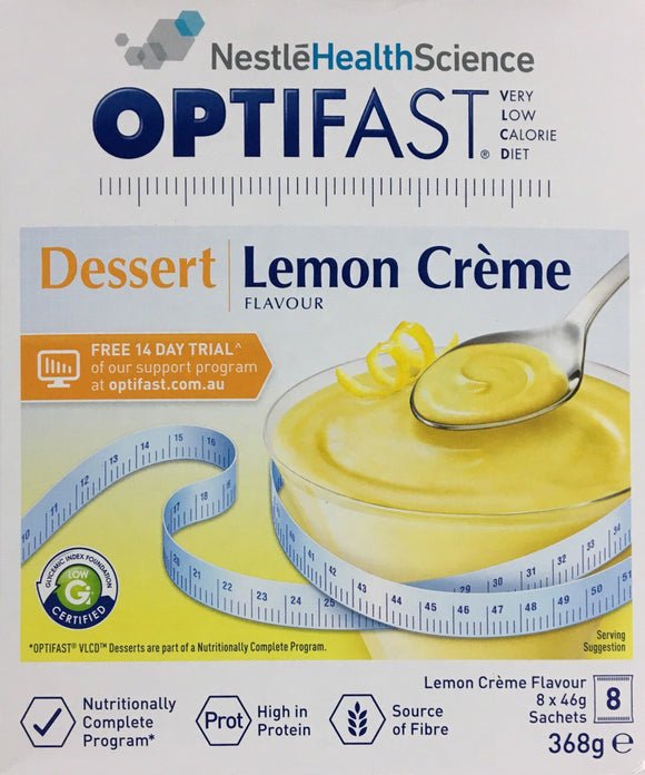 Optifast VLCD Dessert Lemon Creme 53 gm x 8