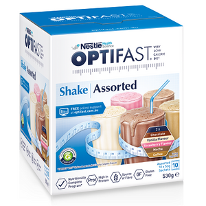 Optifast Milkshake VLCD Assorted Pack 53 gm x 10 Sachets