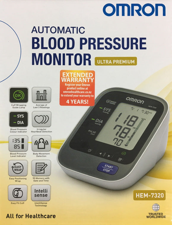 Omron Automatic Blood Pressure Monitor HEM 7320** 5 Years Warranty**
