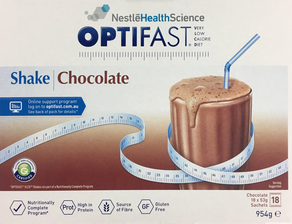 Optifast Milkshake - Chocolate 18 x 53 gm