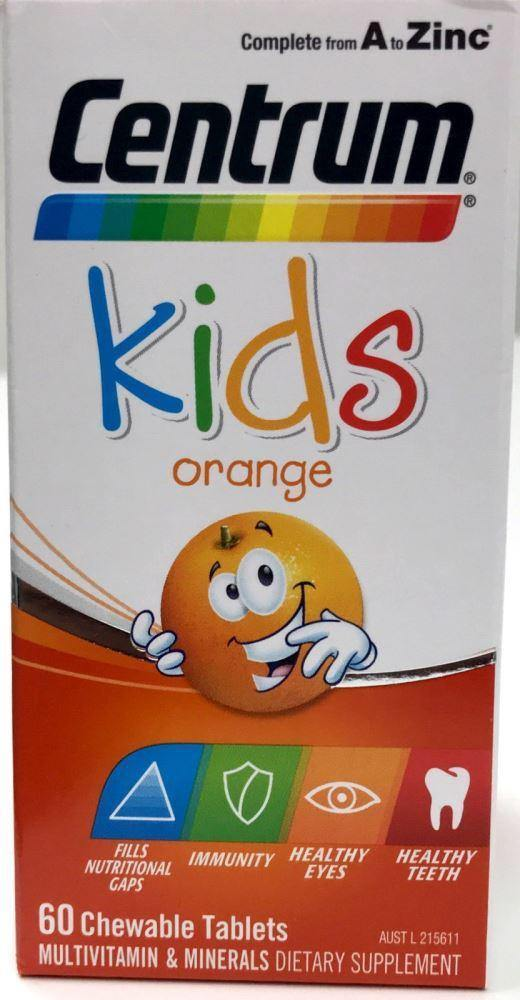 Centrum for Kids Orange 60 Chewable Tablets - DominionRoadPharmacy