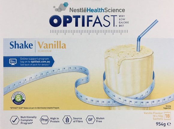 Optifast Milkshake - Vanilla 18 x 53 gm