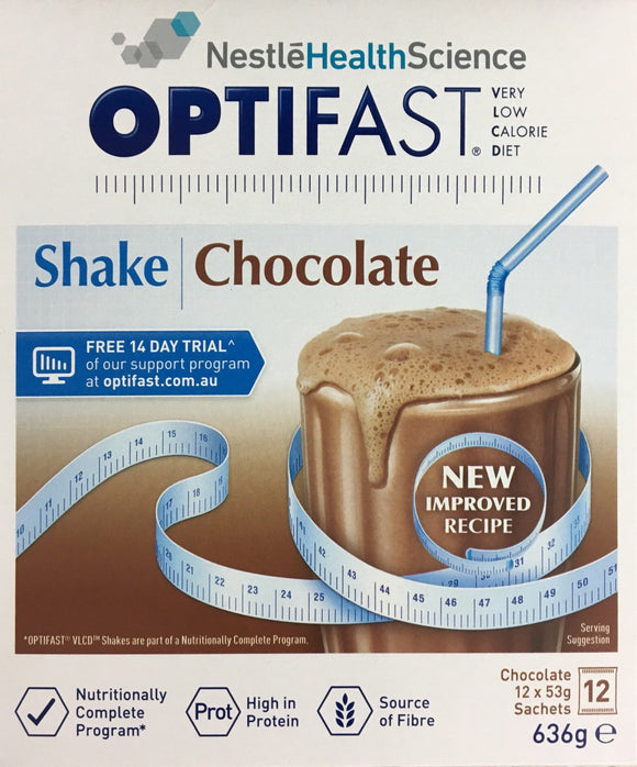Optifast VLCD Milkshake Chocolate 12 x 53 gm Sachets