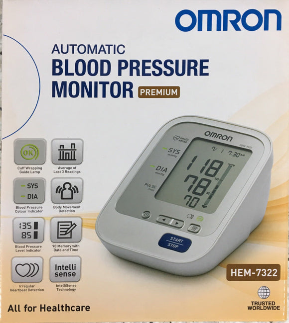 Omron Automatic Blood Pressure Monitor HEM 7322 **5 Years Warranty**