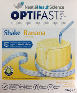 Optifast VLCD Milkshake Banana 53 gm x 12
