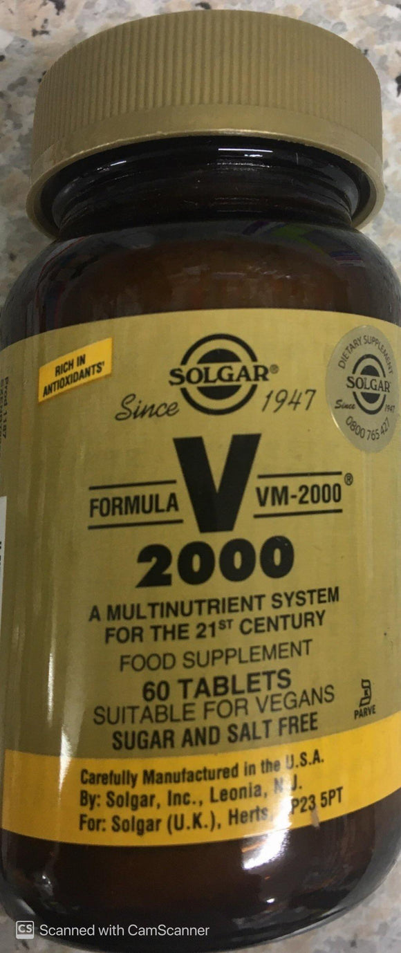 Solgar VM 2000 Multi Nutrient 60 Tablets