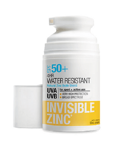 Invisible Zinc Water Resist. Sunscreen SPF50+ 50ml - DominionRoadPharmacy