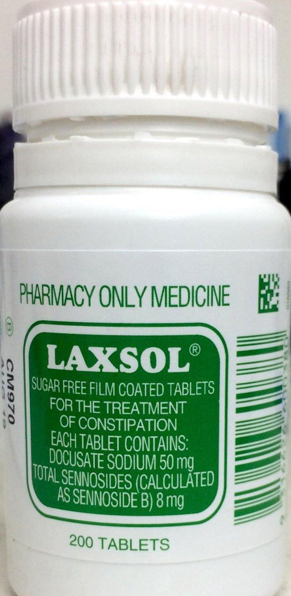 Laxsol 200 tablets *Pharmacy only medicine*