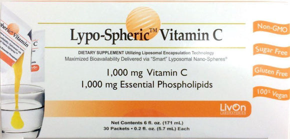 Lypo-Spheric Vitamin C 1000mg 30 Packets (3 pack) - DominionRoadPharmacy