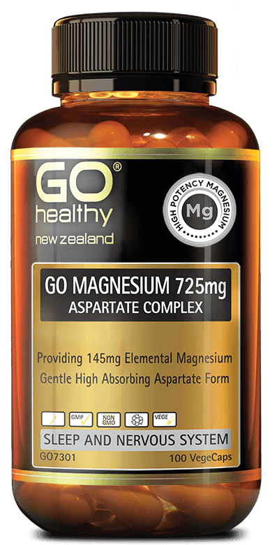 Go Healthy Go Magnesium 725mg Aspartate Complex 100 Vegecaps - DominionRoadPharmacy