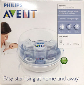 Philips Avent Microwave Steriliser + 125ml botlles
