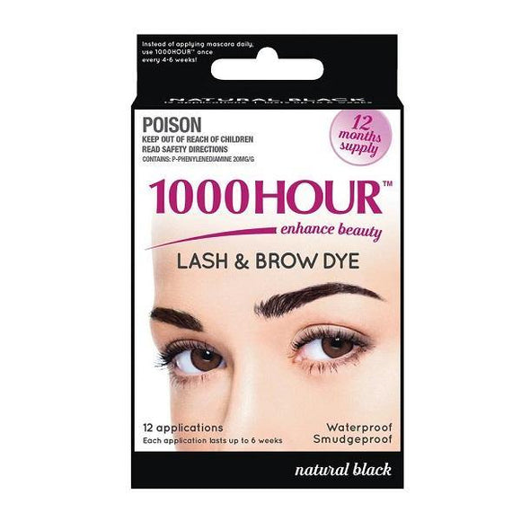 1000 Hour Lash and Brow Dye Kit-Natural Black