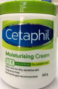 Cetaphil Moisturising Cream 550gm - DominionRoadPharmacy