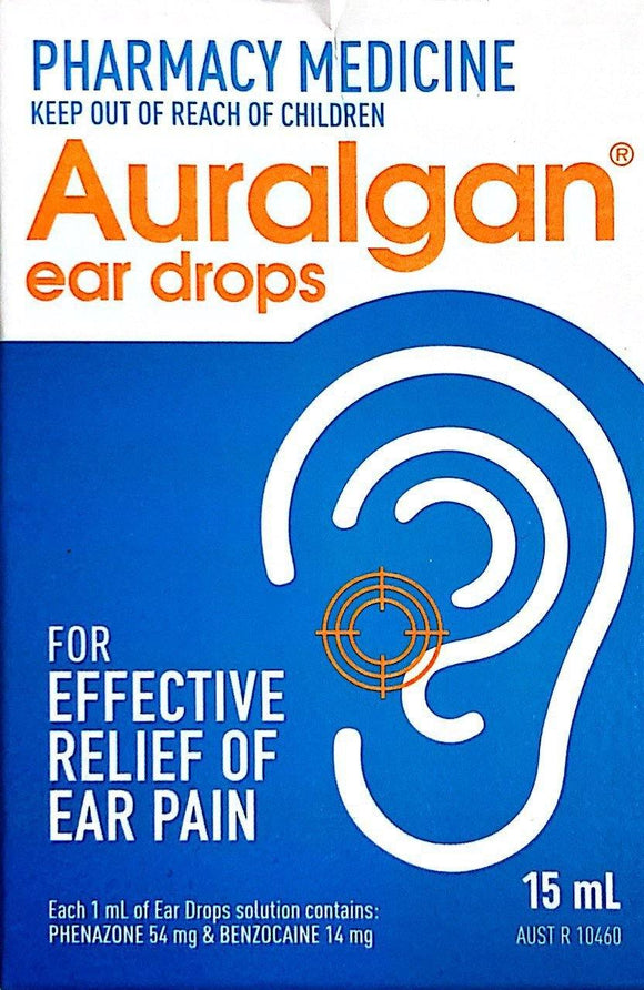 Auralgan Ear Drops 15mL - DominionRoadPharmacy