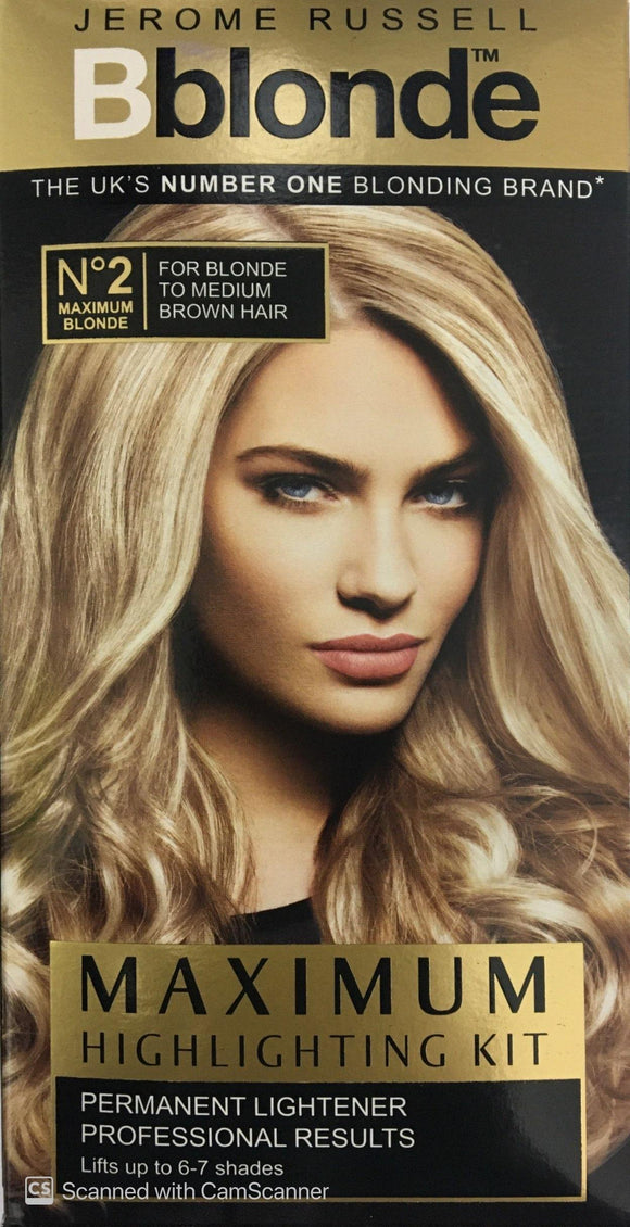 JR Bblonde  Maximum Highlighting Kit No 2 For Blonde to Medium Brown Hair