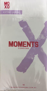 MOMENTS CONDOMS EXTRA LARGE 10 PACK