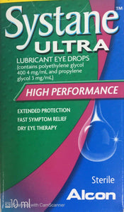Systane Ultra Lubricating Eye drops 10 ml