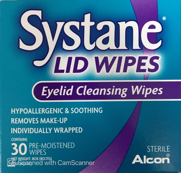 Systane Eye Lid Cleansing Wipes 30 pack