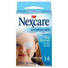 Nexcare Sensitive Skin Eye Patch Junior 14 Pack