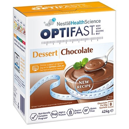 Optifast Milkshake Chocolate Dessert 53 gm  x 8 Sachets